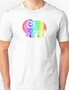Rainbow Elephant Doodle Unisex T-Shirt