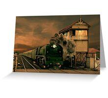 Sunset Express Greeting Card