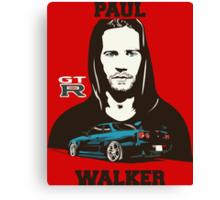 GT R Paul Walker Canvas Print