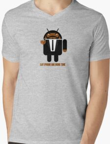 Pulp Fiction BugDroid Mens V-Neck T-Shirt