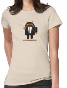 Pulp Fiction BugDroid Womens Fitted T-Shirt