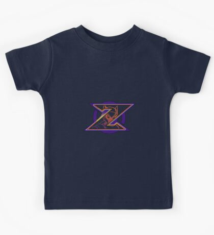 Hidden Zero from Megaman X (alternate placing for shirts) Kids Tee