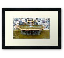 Decorative fountain Framed Print