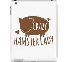 Crazy Hamster lady iPad Case/Skin
