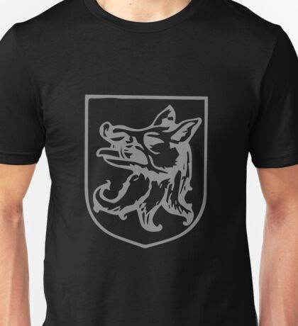 A Complete Guide to Heraldry - Figure 356 — Boar's head erased (English) Unisex T-Shirt