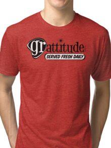 Grattitude (Attitude of Gratitude) Genuine Fake Retro Coolness Tri-blend T-Shirt
