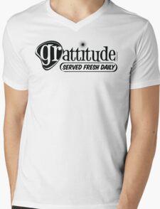 Grattitude (Attitude of Gratitude) Genuine Fake Retro Coolness Mens V-Neck T-Shirt