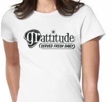 Grattitude (Attitude of Gratitude) Genuine Fake Retro Coolness Womens Fitted T-Shirt