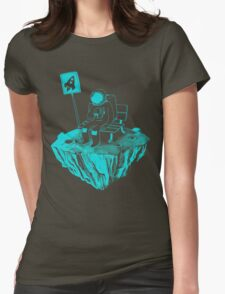 Waiting for my rocket bus Womens Fitted T-Shirt