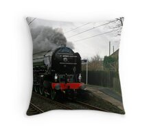 Tornado Train Throw Pillow