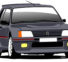 Peugeot 205 T16 road car by car2oonz