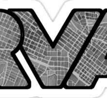 RVA Map Logo, Richmond, Virginia Sticker