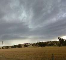 Panorama of a storm near Toodyay, Western Australia on the 28th February 2009 by Tim Slade