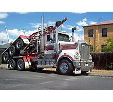 Log Truck - Piggy Backing Photographic Print