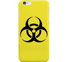 Black Bio Hazard Sign iPhone Case/Skin