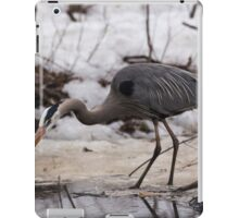 A Great Blue Heron fishing iPad Case/Skin