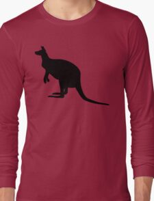 Kangaroo Silhouette  Long Sleeve T-Shirt