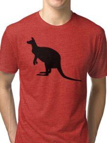 Kangaroo Silhouette  Tri-blend T-Shirt