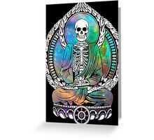 Cosmic Starving Buddha Greeting Card