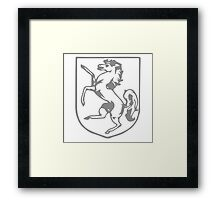A Complete Guide to Heraldry - Figure 360 — Horse rampant Framed Print