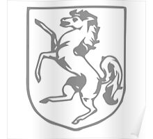 A Complete Guide to Heraldry - Figure 360 — Horse rampant Poster
