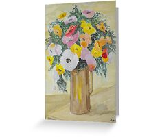 A Vase of Flowers. Greeting Card