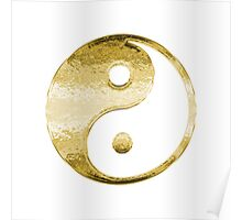Faux Gold Yin Yang Symbol 2 Poster