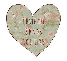 I Hate The Bands You Like by 42Psyche