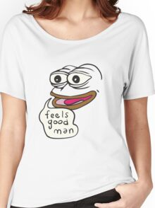 Feels Good Man Pepe the Frog Women's Relaxed Fit T-Shirt