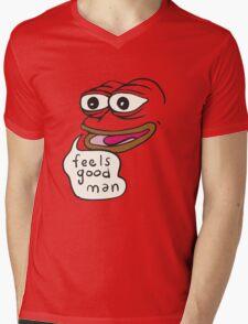 Feels Good Man Pepe the Frog Mens V-Neck T-Shirt
