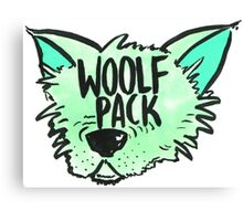 Woolf Pack Wolf Green Canvas Print
