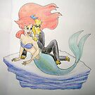 Scrogg Dog and Ariel by Edzie