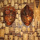 Wall of Masks in Nola shop by helene ruiz