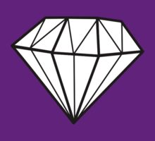 Simple Diamond Line Drawing by shabzdesigns