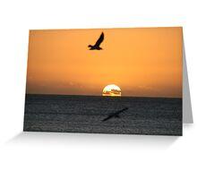 Sunset at Brighton Greeting Card