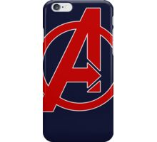 Avengers - Logo - Red iPhone Case/Skin