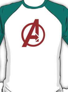 Avengers - Logo - Red T-Shirt