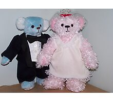 Bride and Groom Bears Photographic Print