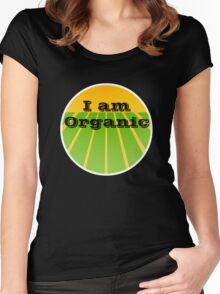 I AM ORGANIC Women's Fitted Scoop T-Shirt