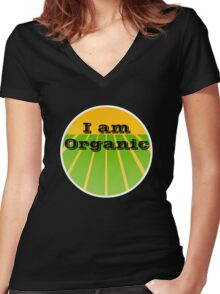 I AM ORGANIC Women's Fitted V-Neck T-Shirt