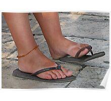 Sunburnt Feet Poster