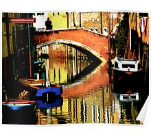 VENICE-LIVING ON A MIRROR Poster