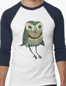 My Garden Owl Men's Baseball ¾ T-Shirt