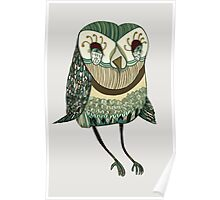 My Garden Owl Poster