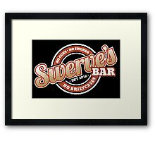 Swerve's Bar - Logo Framed Print