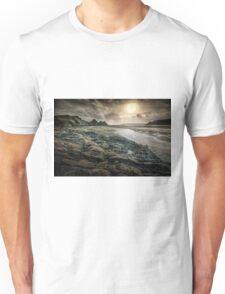 Moody Three Cliffs Bay Gower Unisex T-Shirt
