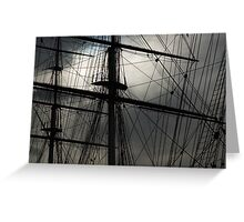 Cutty Sark Masts and Rigging Greeting Card
