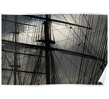 Cutty Sark Masts and Rigging Poster