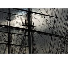 Cutty Sark Masts and Rigging Photographic Print