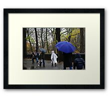 Rain in NYC Framed Print
